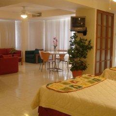 Отель y Suites Nader Мексика, Канкун - отзывы, цены и фото номеров - забронировать отель y Suites Nader онлайн комната для гостей фото 3