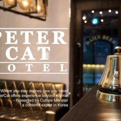 Отель Petercat Hotel Insadong Южная Корея, Сеул - отзывы, цены и фото номеров - забронировать отель Petercat Hotel Insadong онлайн гостиничный бар