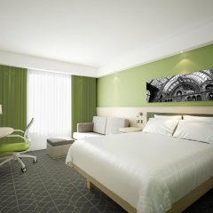Отель Hampton by Hilton Antwerp Central Station Бельгия, Антверпен - отзывы, цены и фото номеров - забронировать отель Hampton by Hilton Antwerp Central Station онлайн комната для гостей фото 2