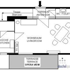 Апартаменты Duschel Apartments Вена интерьер отеля