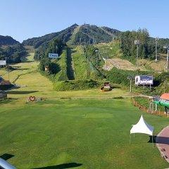 Отель Welli Hilli Park Южная Корея, Пхёнчан - отзывы, цены и фото номеров - забронировать отель Welli Hilli Park онлайн балкон
