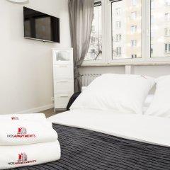 Отель Hosapartments City Center Польша, Варшава - 2 отзыва об отеле, цены и фото номеров - забронировать отель Hosapartments City Center онлайн комната для гостей фото 16