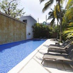 Отель Downtown Apartment Oasis 12 Мексика, Плая-дель-Кармен - отзывы, цены и фото номеров - забронировать отель Downtown Apartment Oasis 12 онлайн бассейн фото 2