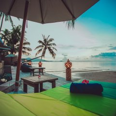 Отель Sasitara Thai villas Таиланд, Самуи - отзывы, цены и фото номеров - забронировать отель Sasitara Thai villas онлайн пляж