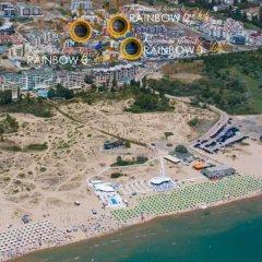 Отель Rainbow 1 Holiday Complex Болгария, Солнечный берег - отзывы, цены и фото номеров - забронировать отель Rainbow 1 Holiday Complex онлайн пляж фото 2