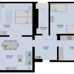 Отель HITrental Kreuzplatz Apartments Швейцария, Цюрих - отзывы, цены и фото номеров - забронировать отель HITrental Kreuzplatz Apartments онлайн ванная фото 2
