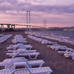 Hersek Otel Турция, Ташкёпрю - отзывы, цены и фото номеров - забронировать отель Hersek Otel онлайн пляж фото 2