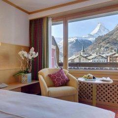 Отель Metropol & Spa Zermatt Швейцария, Церматт - отзывы, цены и фото номеров - забронировать отель Metropol & Spa Zermatt онлайн комната для гостей фото 3