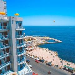 Отель The Preluna Hotel Мальта, Слима - 4 отзыва об отеле, цены и фото номеров - забронировать отель The Preluna Hotel онлайн пляж фото 2
