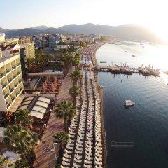Sol Beach Hotel Турция, Мармарис - отзывы, цены и фото номеров - забронировать отель Sol Beach Hotel - All Inclusive - Adults Only онлайн пляж