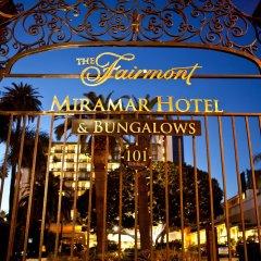 Fairmont Miramar Hotel & Bungalows Санта-Моника вид на фасад