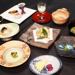 Отель Iyashi no Sato Rakushinkan Кикуйо питание фото 2