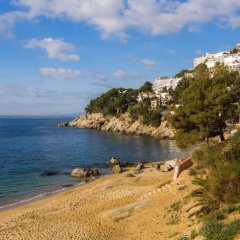 Отель Agi Marina Apartments Испания, Курорт Росес - отзывы, цены и фото номеров - забронировать отель Agi Marina Apartments онлайн пляж фото 4