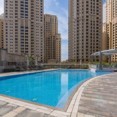 Отель Marina Promenade – Delphine Tower/Dubai Marina 1BR Luxury Apt Sea View Sleeps 3 - HLS 37921 бассейн
