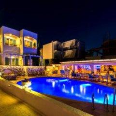 Отель Oasis Beach Hotel Греция, Агистри - отзывы, цены и фото номеров - забронировать отель Oasis Beach Hotel онлайн бассейн фото 4