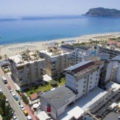 Grand Atilla Hotel Турция, Аланья - 14 отзывов об отеле, цены и фото номеров - забронировать отель Grand Atilla Hotel онлайн пляж фото 2