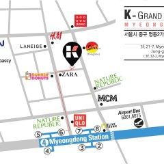 K-grand Hostel Myeongdong Сеул городской автобус