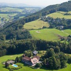 Отель Schoene Aussicht Зальцбург приотельная территория