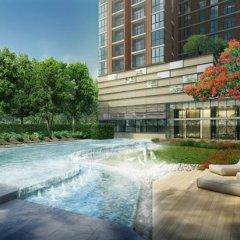 Отель The Base Rama 9 Hotel By Ricco Таиланд, Бангкок - отзывы, цены и фото номеров - забронировать отель The Base Rama 9 Hotel By Ricco онлайн бассейн фото 2