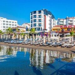 Aurasia Beach Hotel Турция, Мармарис - отзывы, цены и фото номеров - забронировать отель Aurasia Beach Hotel онлайн пляж фото 2