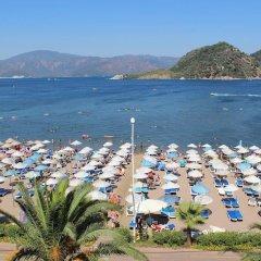 Kontes Beach Hotel Турция, Мармарис - отзывы, цены и фото номеров - забронировать отель Kontes Beach Hotel онлайн пляж