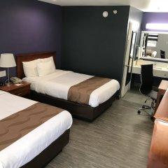 Отель Quality Inn Near Hollywood Walk of Fame США, Лос-Анджелес - 1 отзыв об отеле, цены и фото номеров - забронировать отель Quality Inn Near Hollywood Walk of Fame онлайн комната для гостей фото 5