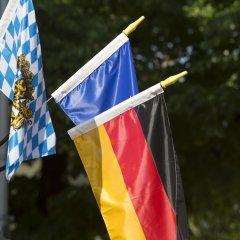 Отель Kriemhild am Hirschgarten Германия, Мюнхен - отзывы, цены и фото номеров - забронировать отель Kriemhild am Hirschgarten онлайн приотельная территория фото 2