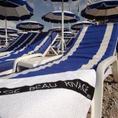 Отель Beau Rivage Франция, Ницца - отзывы, цены и фото номеров - забронировать отель Beau Rivage онлайн пляж