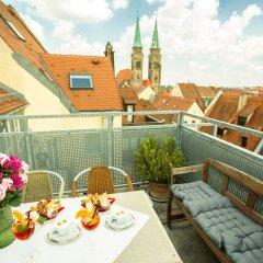 Отель Burghotel Nürnberg Германия, Нюрнберг - отзывы, цены и фото номеров - забронировать отель Burghotel Nürnberg онлайн балкон