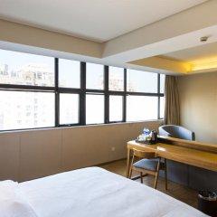 Отель JI Hotel Shanghai Hongqiao Transport Hub Linkong Zone Китай, Шанхай - отзывы, цены и фото номеров - забронировать отель JI Hotel Shanghai Hongqiao Transport Hub Linkong Zone онлайн комната для гостей фото 4