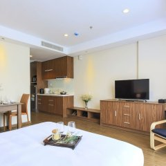 Отель Aurora Serviced Apartments - Adults Only Вьетнам, Хошимин - отзывы, цены и фото номеров - забронировать отель Aurora Serviced Apartments - Adults Only онлайн комната для гостей фото 3