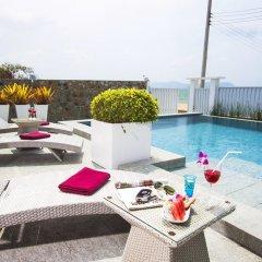 Отель Villa 7th Heaven Beach Front бассейн