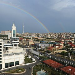Отель Pullman Baku Азербайджан, Баку - 6 отзывов об отеле, цены и фото номеров - забронировать отель Pullman Baku онлайн балкон