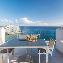 Отель Saint Julian's - Spinola Bay Apartment Мальта, Сан Джулианс - отзывы, цены и фото номеров - забронировать отель Saint Julian's - Spinola Bay Apartment онлайн балкон