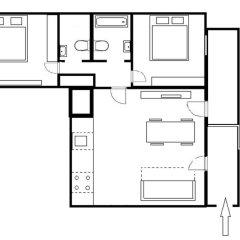 Апартаменты Charming Two-Bedroom Apartment Next To The Emmaus Abbey Прага комната для гостей