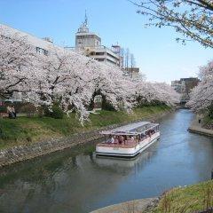 Отель Apa Toyama - Ekimae Тояма приотельная территория