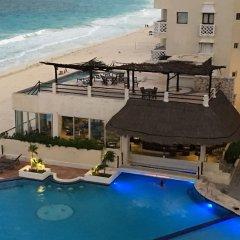 Отель Cancun Plaza Condo пляж