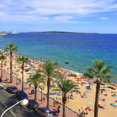Отель Residence Coeur De Cannes Beach Франция, Канны - отзывы, цены и фото номеров - забронировать отель Residence Coeur De Cannes Beach онлайн пляж фото 2