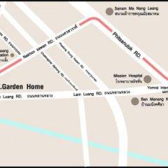 Отель P.K. Garden Home Бангкок городской автобус