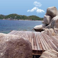 Отель Cape Shark Pool Villas пляж