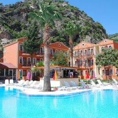 Akdeniz Beach Hotel Турция, Олюдениз - 1 отзыв об отеле, цены и фото номеров - забронировать отель Akdeniz Beach Hotel онлайн бассейн