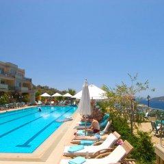 Happy Hotel Kalkan Турция, Калкан - отзывы, цены и фото номеров - забронировать отель Happy Hotel Kalkan онлайн бассейн