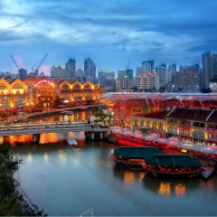 ZEN Hostel Mosque Street Сингапур приотельная территория