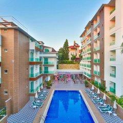 Kleopatra Atlas Hotel Турция, Аланья - 9 отзывов об отеле, цены и фото номеров - забронировать отель Kleopatra Atlas Hotel онлайн бассейн фото 2