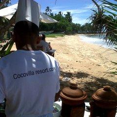 Отель Coco Villa Boutique Resort Шри-Ланка, Берувела - отзывы, цены и фото номеров - забронировать отель Coco Villa Boutique Resort онлайн пляж фото 2