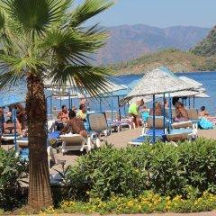 Kontes Beach Hotel Турция, Мармарис - отзывы, цены и фото номеров - забронировать отель Kontes Beach Hotel онлайн пляж фото 2