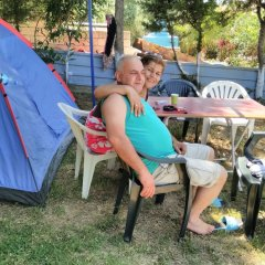 Отель Mavi Cennet Camping Pansiyon Сиде бассейн