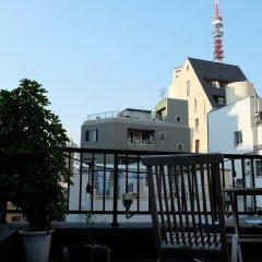 Hostel & Coffee Shop Zabutton Токио балкон