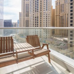 Отель Marina Promenade – Delphine Tower/Dubai Marina 1BR Luxury Apt Sea View Sleeps 3 - HLS 37921 балкон