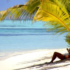 Отель EM Beach Maldives пляж